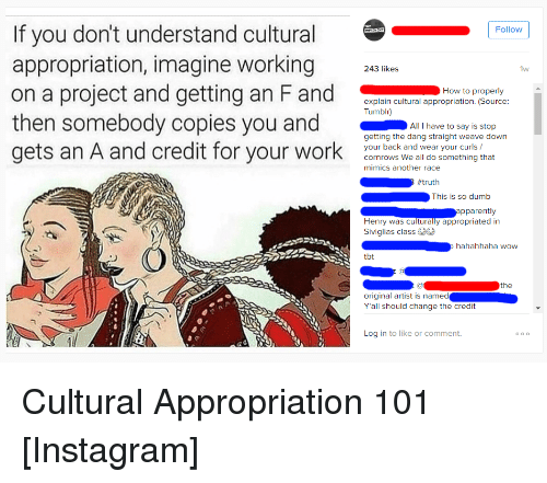 Cultural Appreciation, Please?