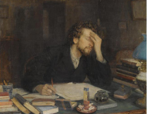 This independent author just looked at his monthly writing income. (image via Wikimedia)