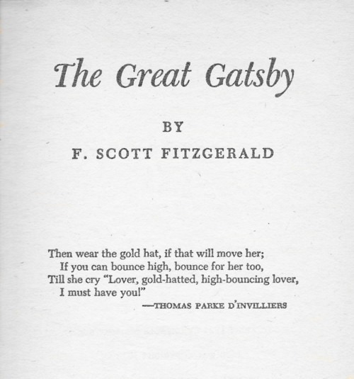 the great gatsby epigraph