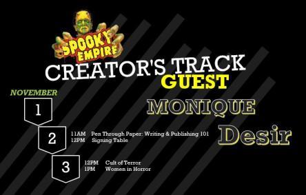 Spooky Empire Author Track 2019