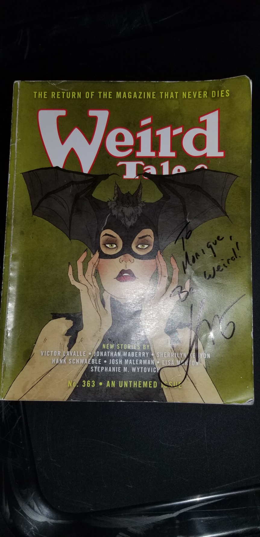 Weird Tales_Autographed Jonathan Maberry