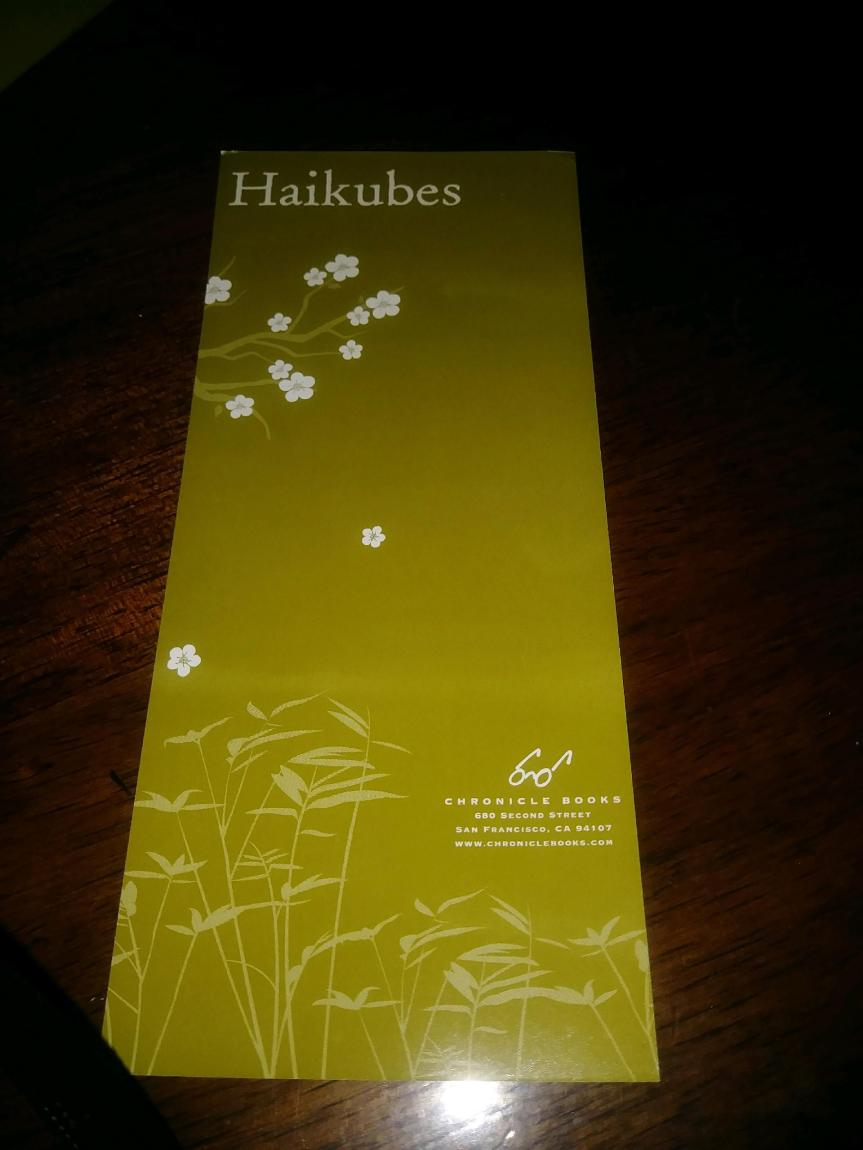 Haikubes – April 30th,2020